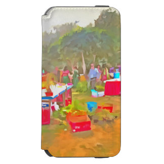 Tables and chairs at an exhibition iPhone 6/6s wallet case