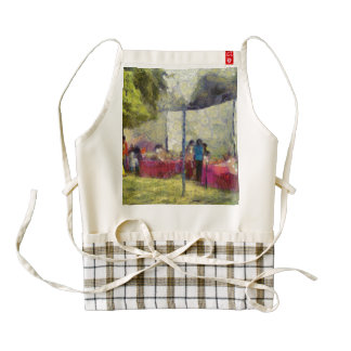 Tables at an exhibition zazzle HEART apron