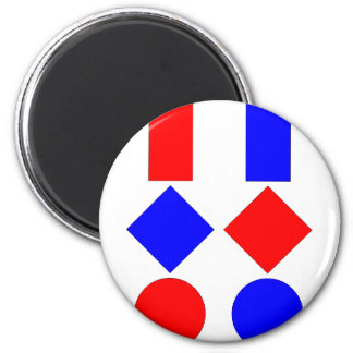 tables OF of chartres 2 Inch Round Magnet