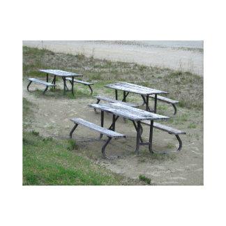 Tables Wasaga Beach Canvas Prints