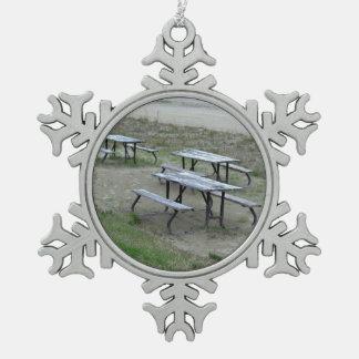 Tables Wasaga Beach Snowflake Pewter Christmas Ornament