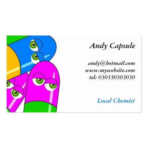 Tablet Capsules Double-Sided Standard Business Cards (Pack Of 100)