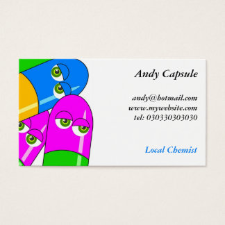 Tablet Capsules Business Card