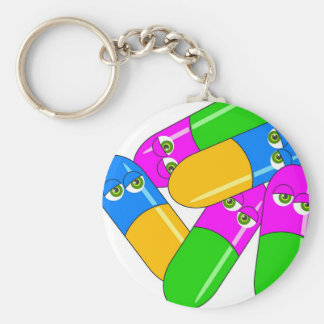 Tablet Capsules Keychain
