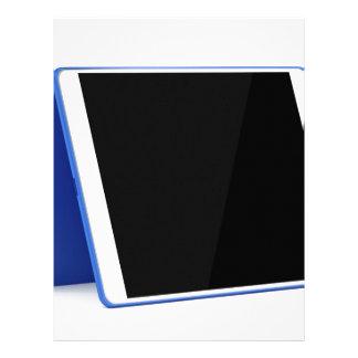 Tablet computer on white letterhead
