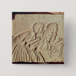 Tablet depicting four scribes at work pinback button