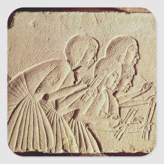 Tablet depicting four scribes at work square sticker