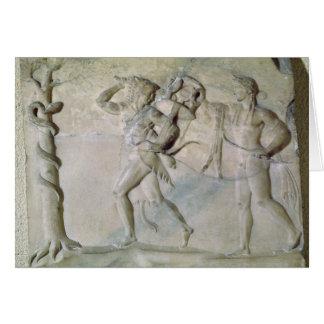 Tablet depicting Hercules Greeting Card