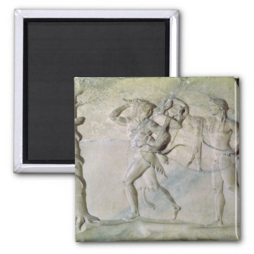 Tablet depicting Hercules Refrigerator Magnets