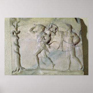 Tablet depicting Hercules Poster