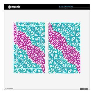 Tablet/e-Reader Skin Floral abstract background Skins For Kindle Fire