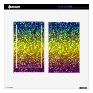 Tablet/e-Reader Skin Glitter Graphic Background Skin For Kindle Fire