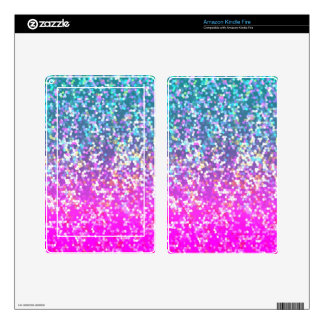 Tablet/e-Reader Skin Glitter Graphic Background Decal For Kindle Fire