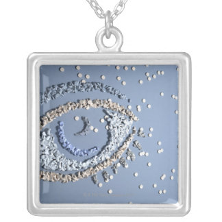 Tablet Eye Square Pendant Necklace