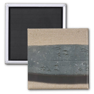 Tablet inscribed in 'Linear B'  sheep 2 Inch Square Magnet