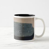 Tablet inscribed in 'Linear B'  sheep Two-Tone Coffee Mug