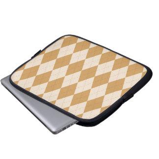 Tablet & Laptop Sleeve - Argyle D  - Wheat