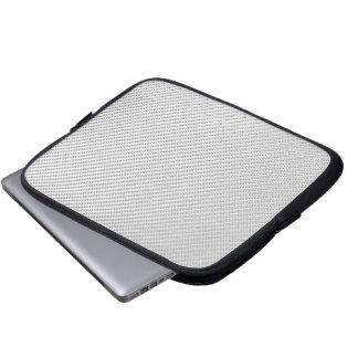 Tablet & Laptop Sleeve - Carbon Fiber - White