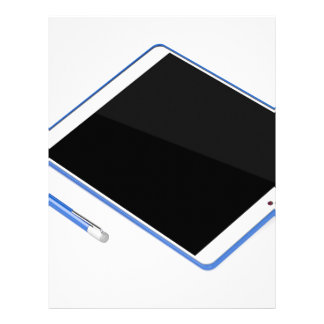 Tablet on stand and digital pen letterhead