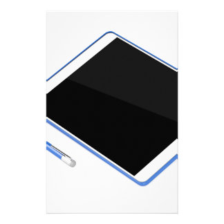 Tablet on stand and digital pen stationery