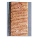 Tablet relating the ritual sacrifices card