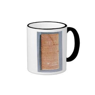 Tablet relating the ritual sacrifices ringer mug