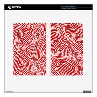 Tablet Skin (Kindle, etc.)  - Scribbleprints Red Kindle Fire Decals