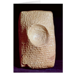 Tablet with cuneiform inscription card