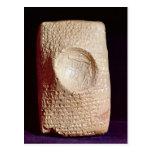 Tablet with cuneiform inscription postcard