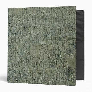 Tablet with cuneiform script vinyl binder