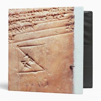 Tablet with cuneiform script, c.1830-1530 BC Binder