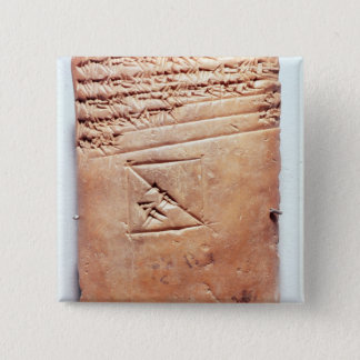 Tablet with cuneiform script, c.1830-1530 BC Button