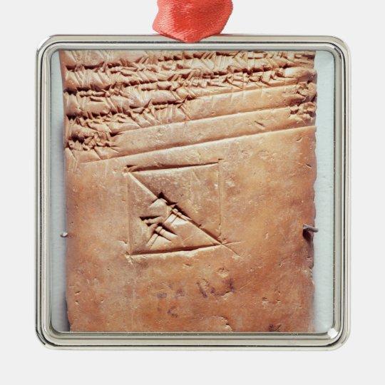 Tablet with cuneiform script, c.1830-1530 BC Metal Ornament