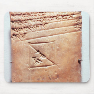 Tablet with cuneiform script, c.1830-1530 BC Mouse Pad