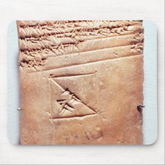 Tablet with cuneiform script, c.1830-1530 BC Mouse Pad