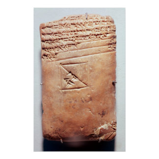 Tablet with cuneiform script, c.1830-1530 BC Poster