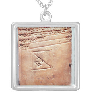 Tablet with cuneiform script, c.1830-1530 BC Silver Plated Necklace