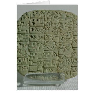 Tablet with cuneiform script card
