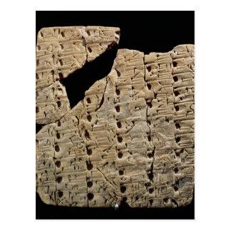 Tablet with cuneiform script, from Uruk Postcard