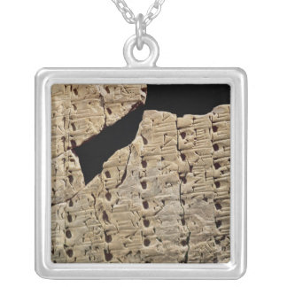Tablet with cuneiform script, from Uruk Square Pendant Necklace