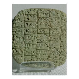 Tablet with cuneiform script postcards