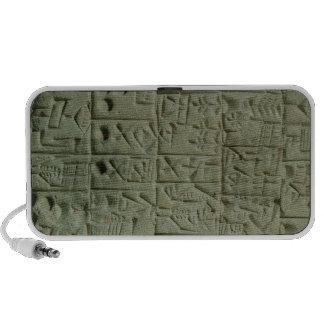 Tablet with cuneiform script mp3 speakers