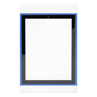 Tablet with empty screen stationery