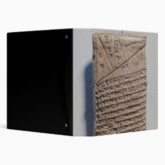 Tablet with fourteen lines of a mathematical text binders