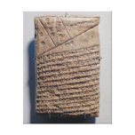 Tablet with fourteen lines of a mathematical text canvas print