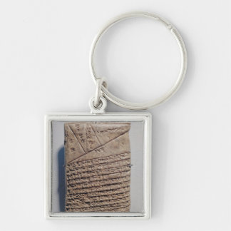 Tablet with fourteen lines of a mathematical text keychain