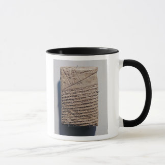 Tablet with fourteen lines of a mathematical text mug