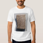 Tablet with fourteen lines of a mathematical text tee shirt