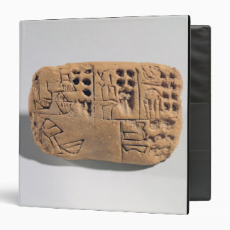 Tablet with pictographic inscription, Protoliterat 3 Ring Binder