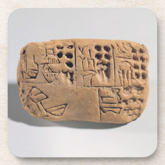 Tablet with pictographic inscription, Protoliterat Drink Coaster